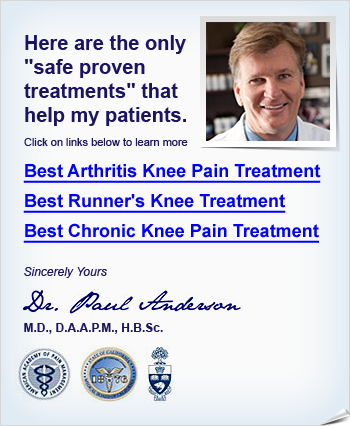 how to get rid of knee pain in old age